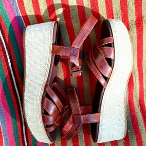 Timberland Leather Wedge Sandals